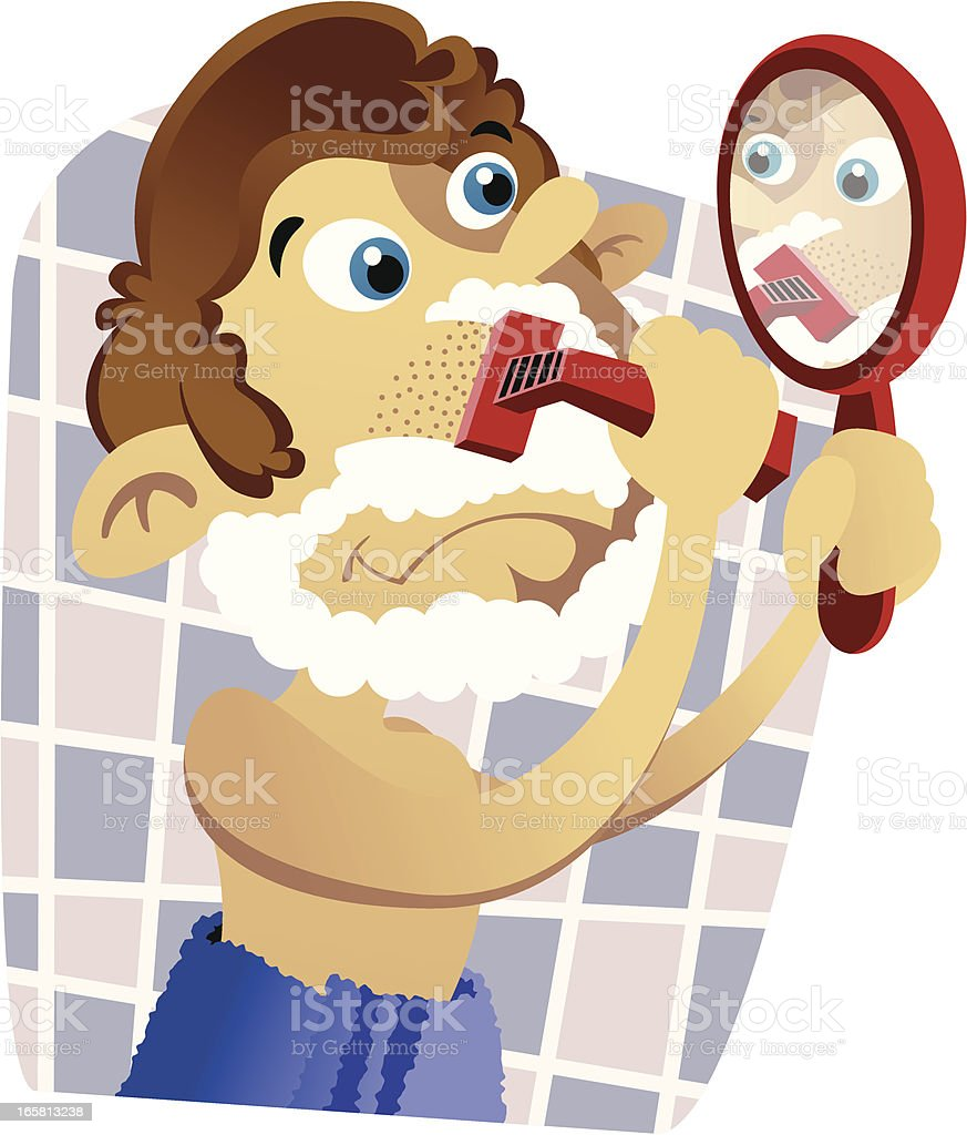Shave royalty-free shave stock vector art & more images of adult