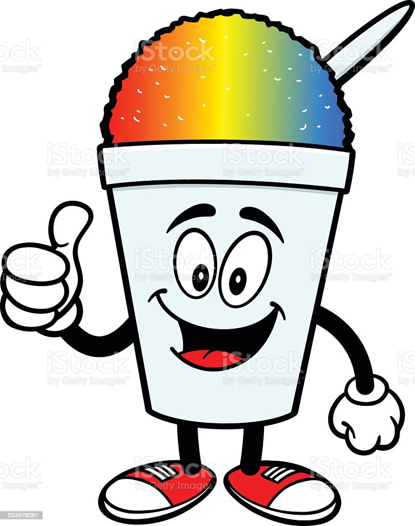 Shaved Ice With Thumbs Up Stock Illustration - Download ...