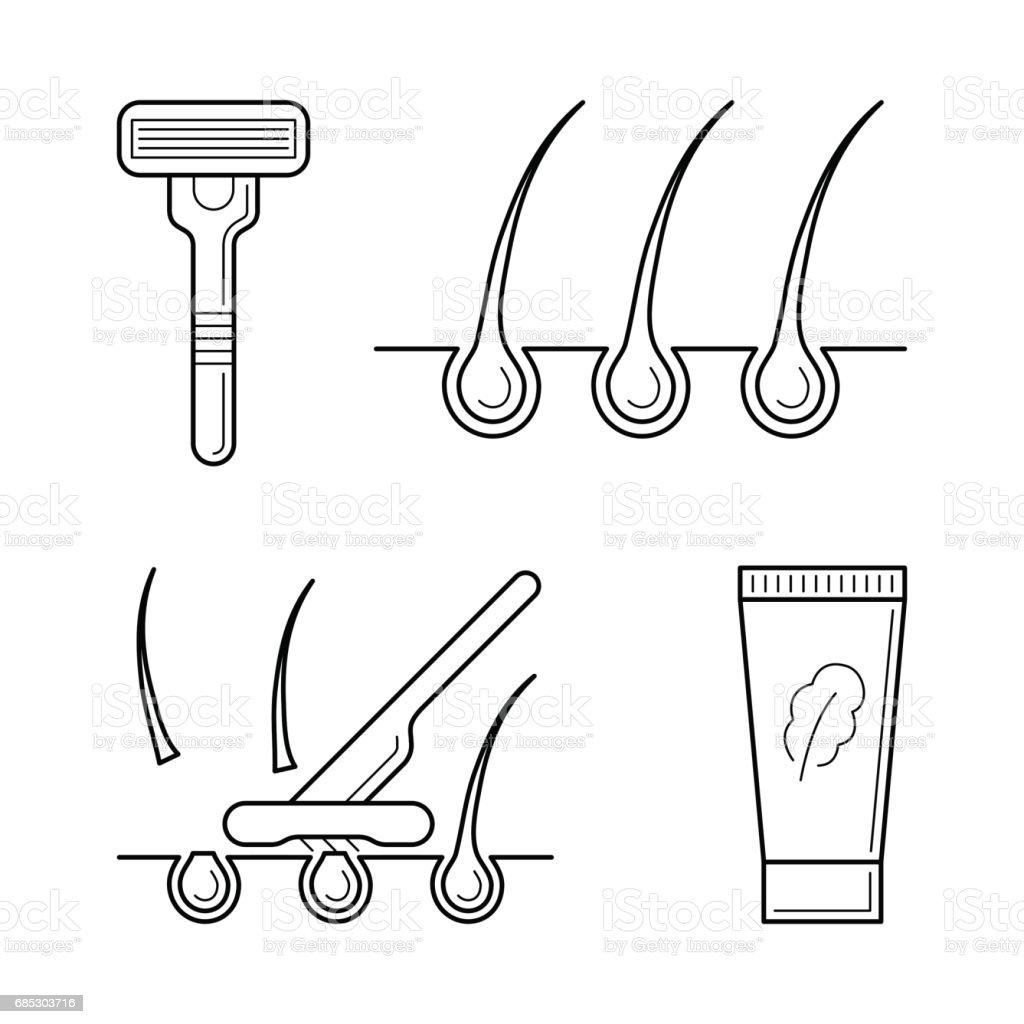 Shaver, razor with blade, cream. shaver razor with blade cream - arte vetorial de stock e mais imagens de adulto royalty-free