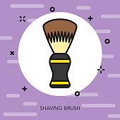Shaving Brush Hairdresser Thin Line Icon