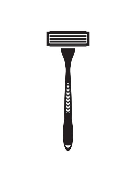 Shaving razor flat vector icon Vector illustration of the Shaving razor flat vector icon blade stock illustrations