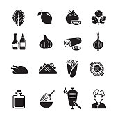 Shawarma Business icons