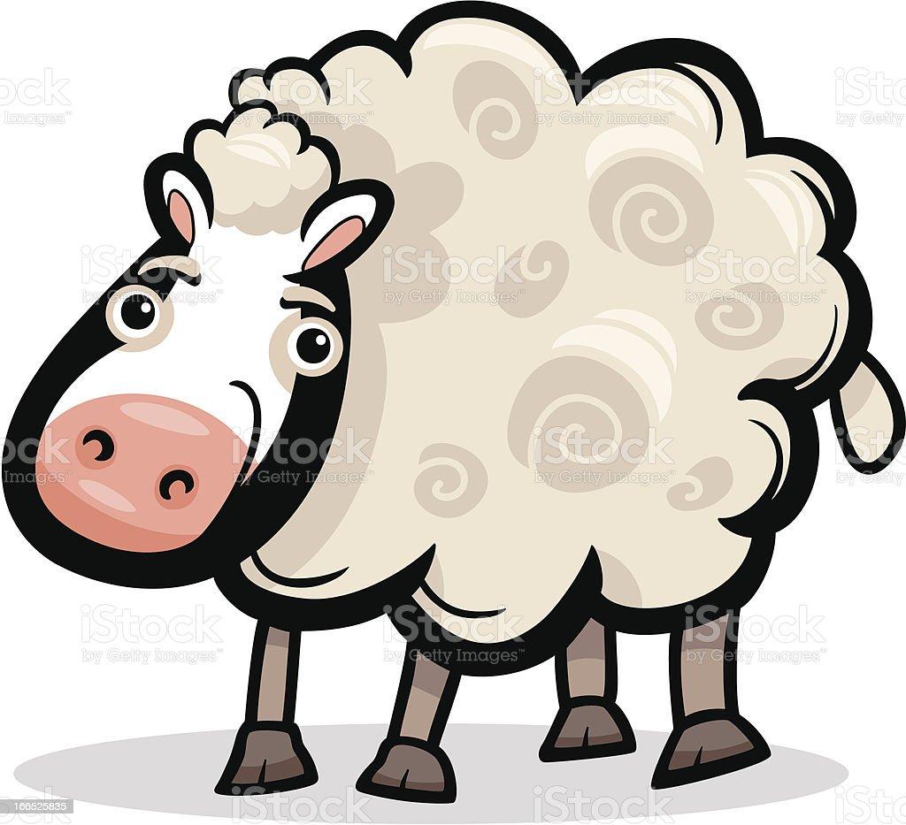 sheep farm animal cartoon illustration royalty-free stock vector art