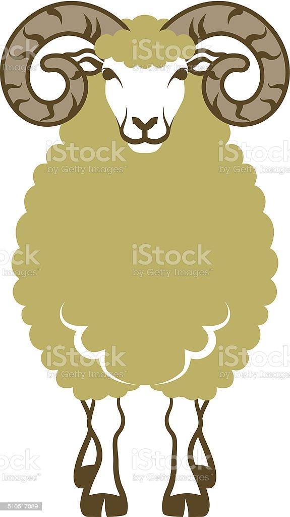 Moutons Vue De Faceclip Art Vecteurs Libres De Droits Et Plus D Images Vectorielles De Annee Du Mouton Istock