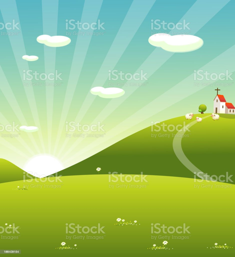 Sheep Grazing royalty-free sheep grazing stock vector art & more images of agriculture