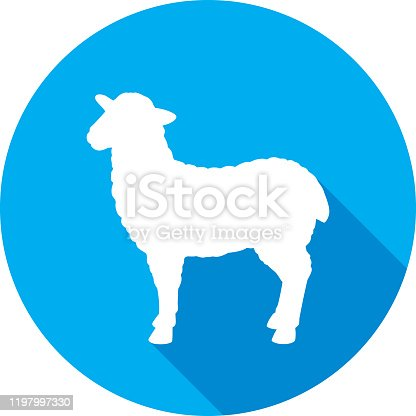 istock Sheep Icon Silhouette 1197997330