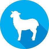 istock Sheep Icon Silhouette 1197997330