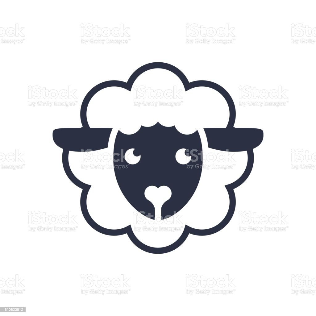 Sheep Icon Vector Icon Template Sheep Head Line Icon Filled