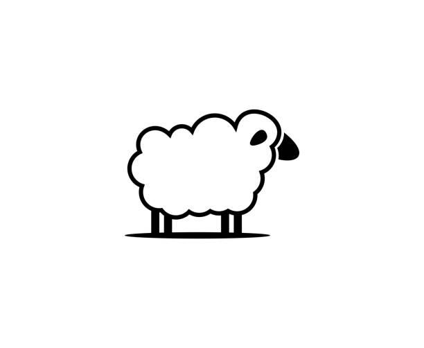 stockillustraties, clipart, cartoons en iconen met schapen pictogram - schaap