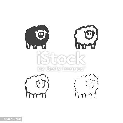 Sheep Icons Multi Series Vector EPS File.