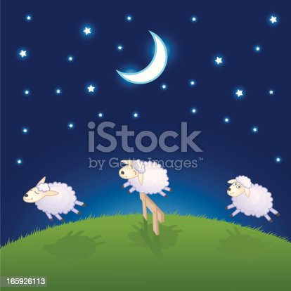 istock Sheep Jumping Over The Fence 165926113