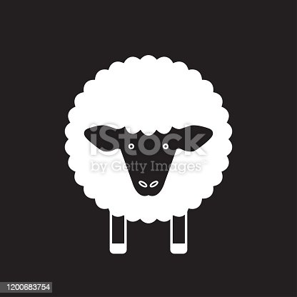 istock Sheep line icon. Lamb logo. Vector illustration. 1200683754