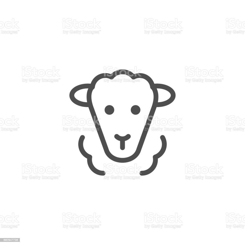 Moutons line icône - Illustration vectorielle
