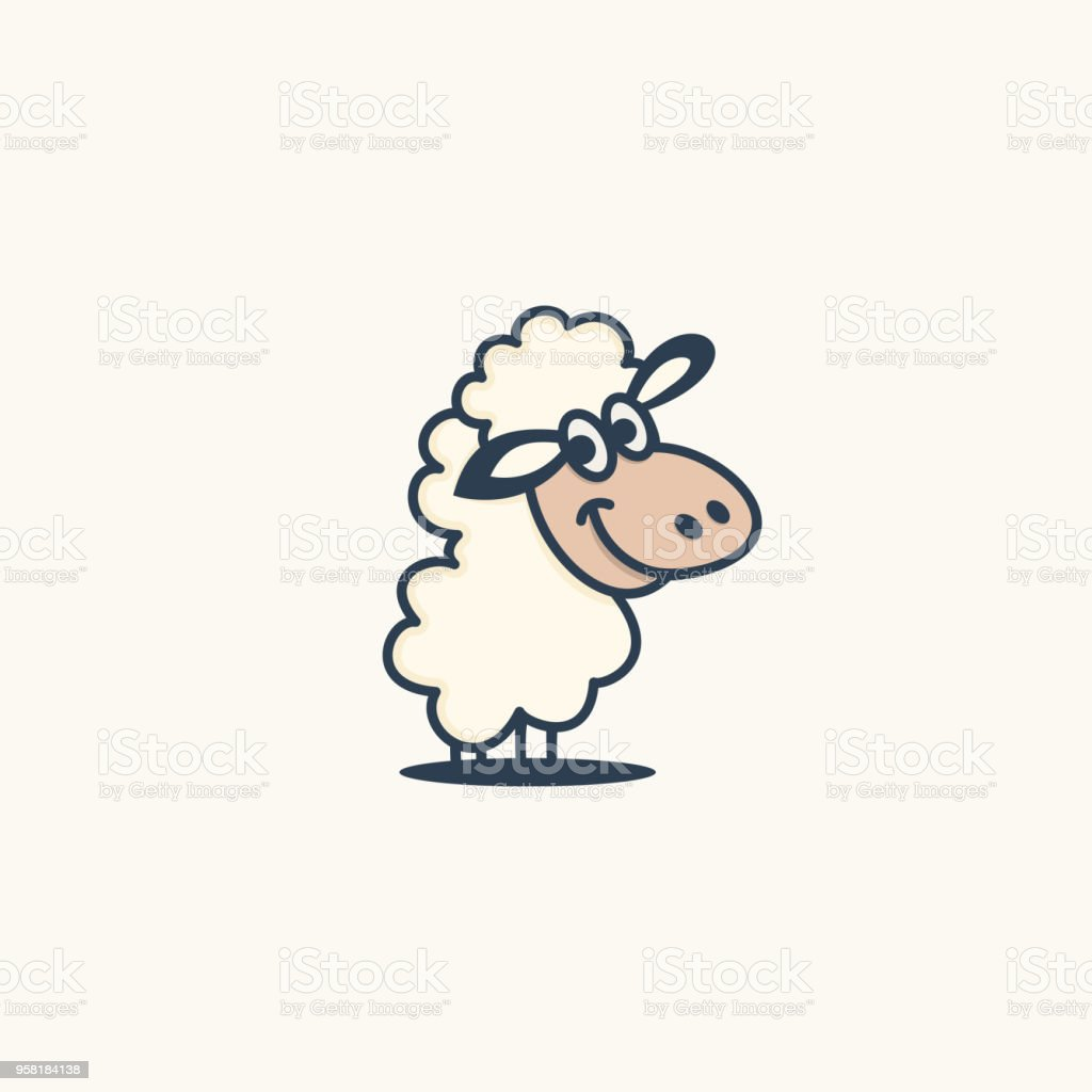 Sheep logo characters vector art illustration