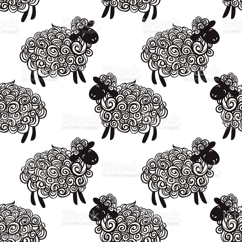 Sheep pattern vector background vector art illustration