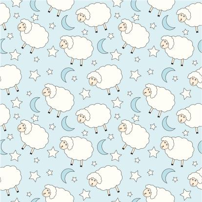 Sheep seamless background
