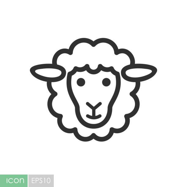 Moutons vector icon. Tête d'animal - Illustration vectorielle