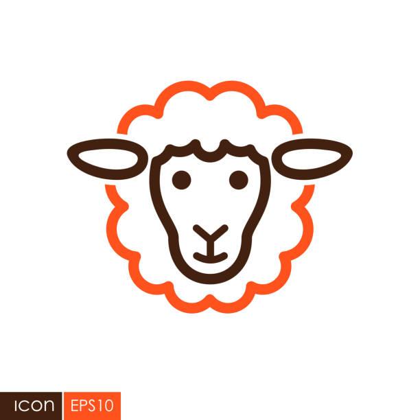 Sheep vector icon. Animal head Sheep icon. Animal head. Farm sign. Graph symbol for your web site design,  , app, UI. Vector illustration flock of sheep stock illustrations