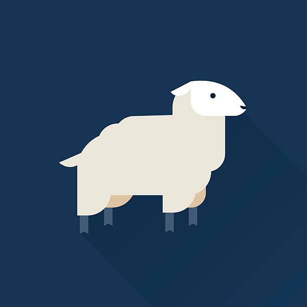 Icône de vecteur de mouton - Illustration vectorielle