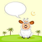 Sheep wishing Eid mubarak