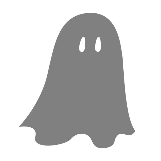 Sheet ghost silhouette. Vector Sheet ghost silhouette. Vector. ghost icon stock illustrations