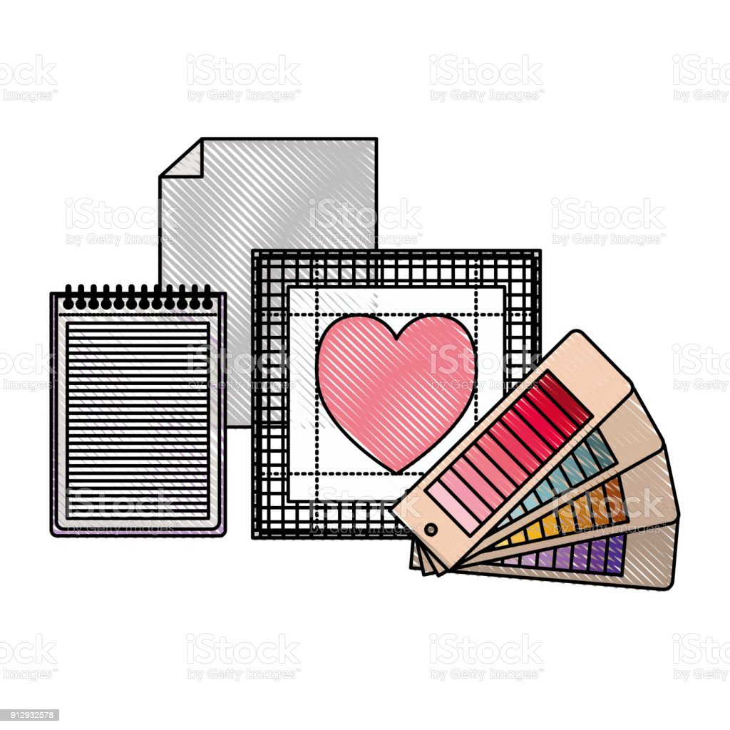 Colored blank heart diagram electrical work wiring diagram sheet in blank and spiral notebook and color palette guide and heart rh istockphoto com human heart diagram heart diagram labeled ccuart Images