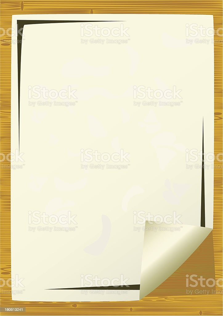 Sheet of an paper. royalty-free stock vector art