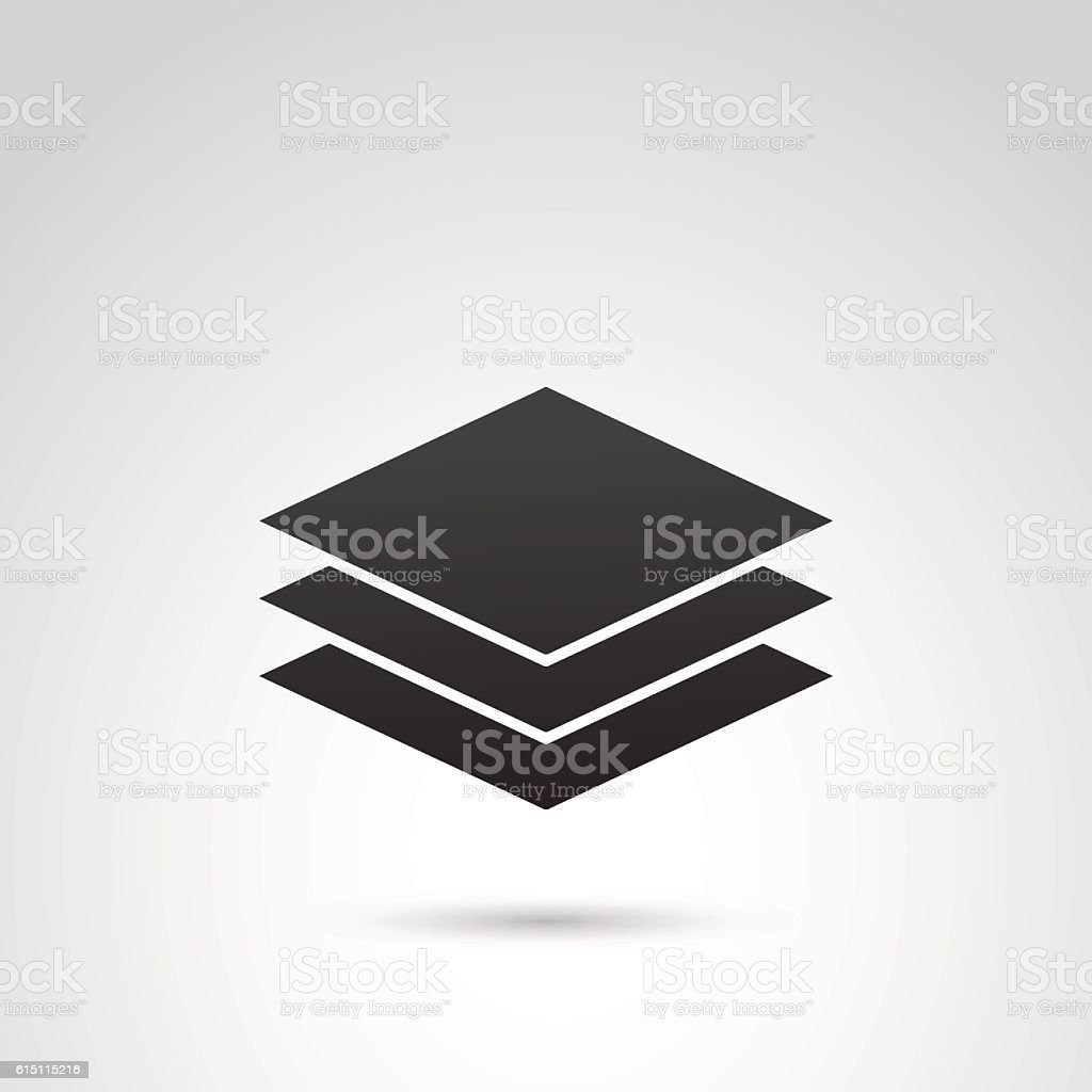 Sheet of paper vector icon. vector art illustration
