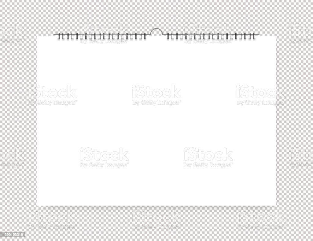 Sheet of paper with spiral on a isolated background vector art illustration