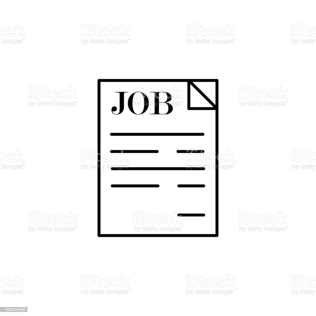 sheet with vacancies. Element of job interview icon for mobile concept and web apps. Thin line sheet with vacancies can be used for web and mobile vector art illustration