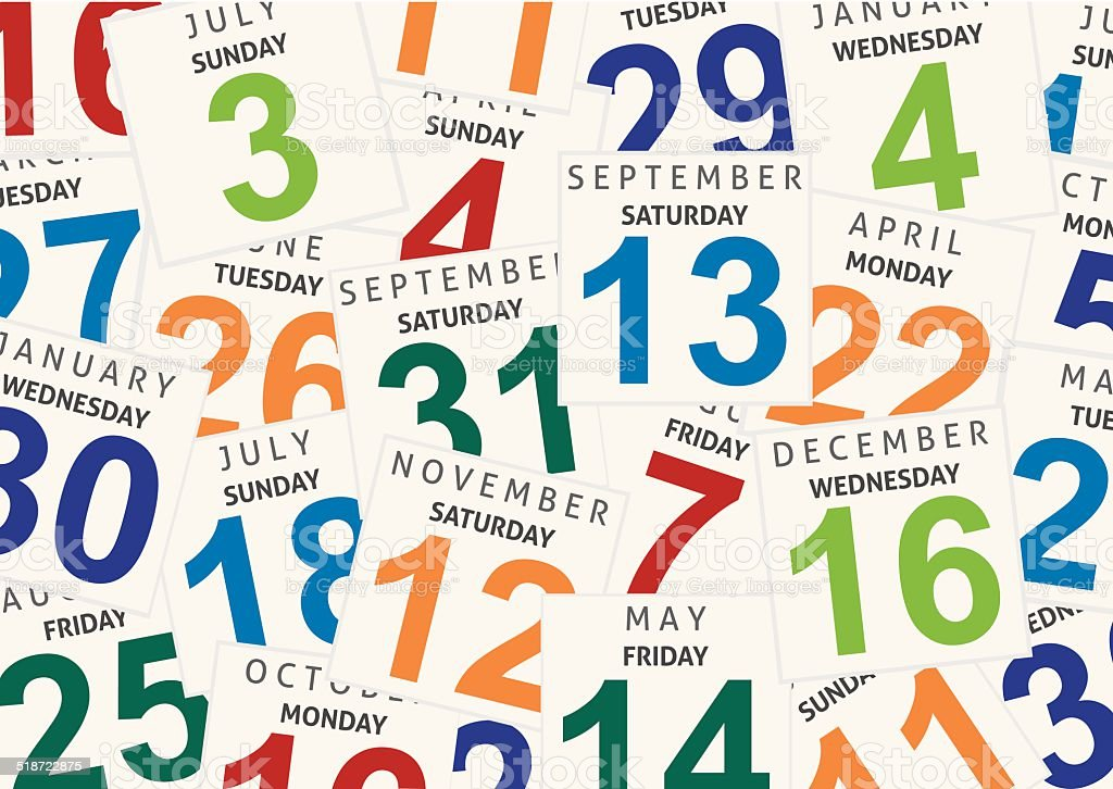 Sheets of a calendar. Background vector art illustration