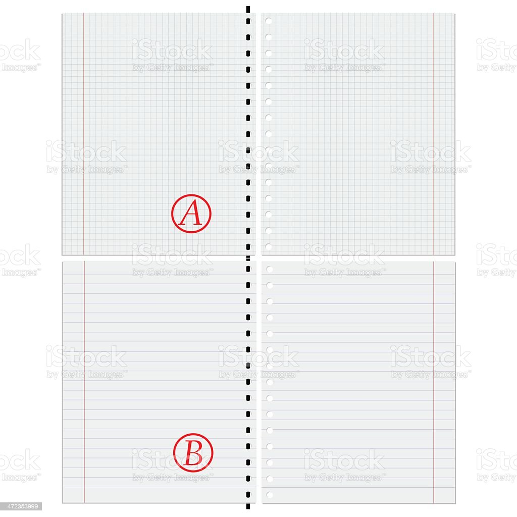 Sheets of paper. royalty-free stock vector art