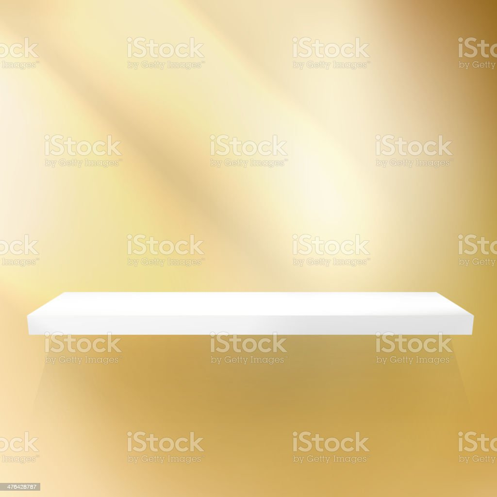 Shelf gold for exhibition. royalty-free shelf gold for exhibition stock vector art & more images of abstract