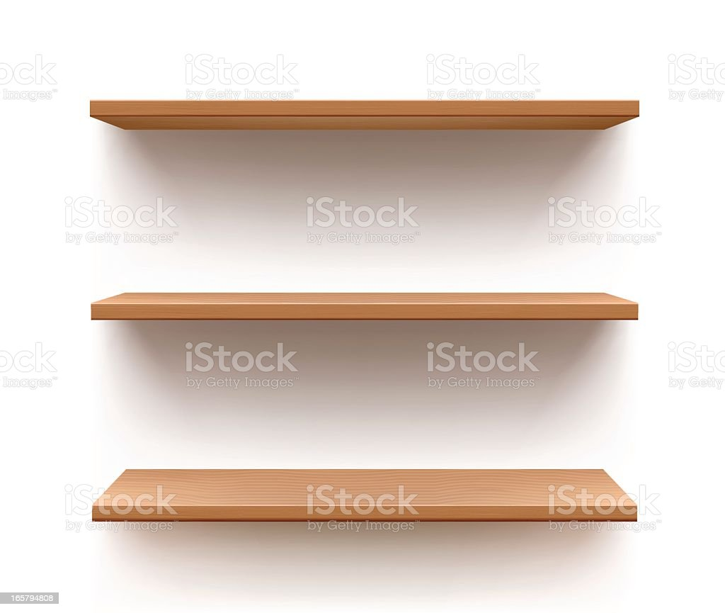 Shelf vector art illustration