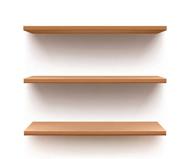 Shelf Vector store/book shelves. no people stock illustrations