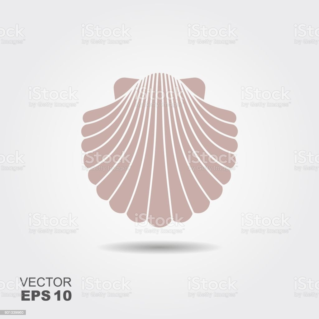 Shell Flat Icon vector art illustration
