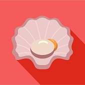 Shell icon, flat style