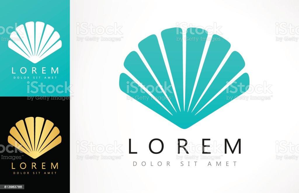 Shell icon. Mollusk. vector art illustration