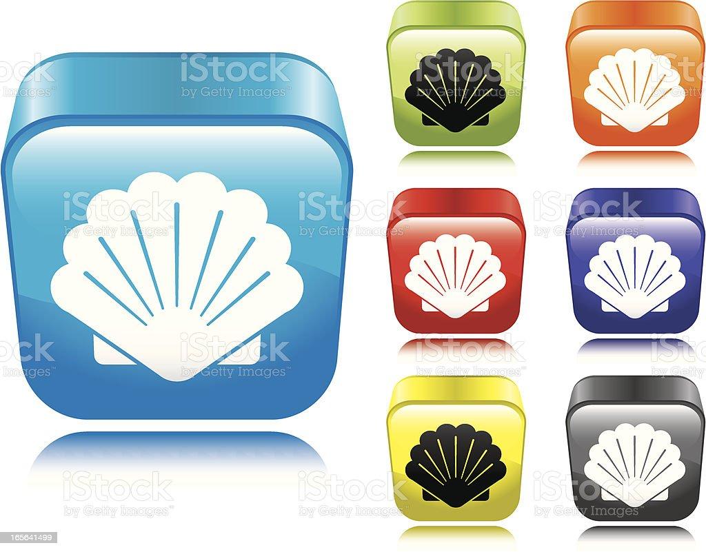 Shell Icon vector art illustration