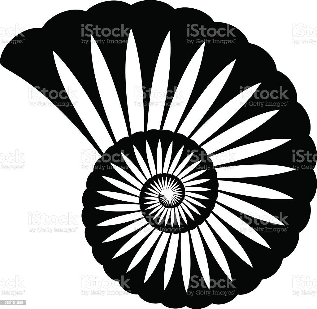 shell silhouette vector art illustration