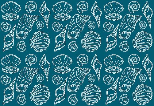 Shell textile pattern