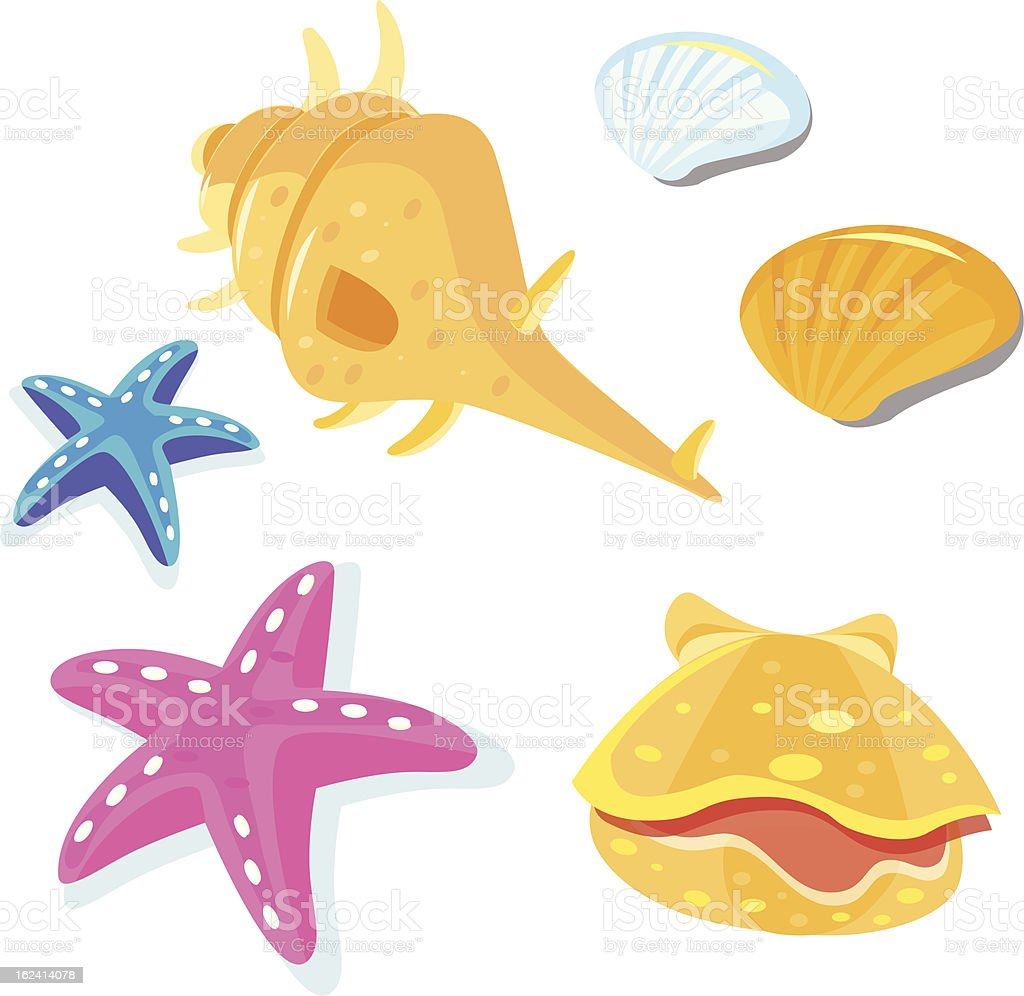 Shells icon set royalty-free stock vector art