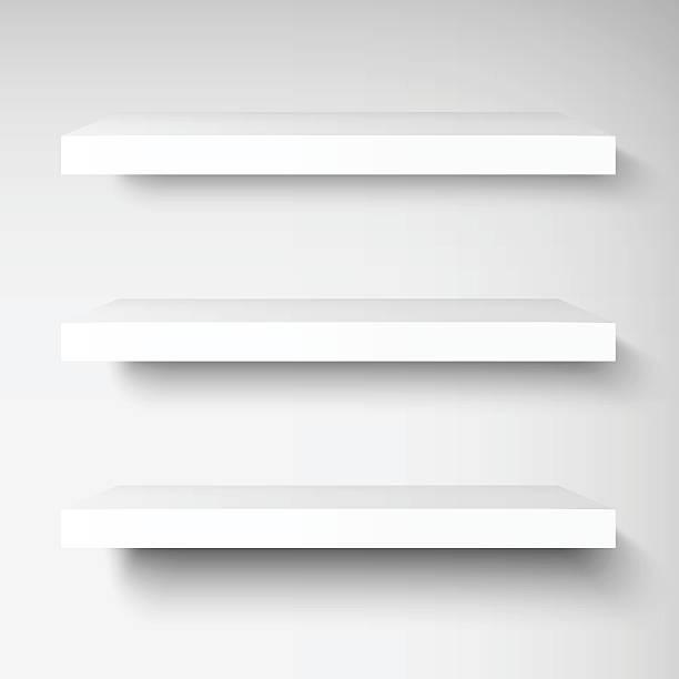 shelves template mockup - карниз stock illustrations
