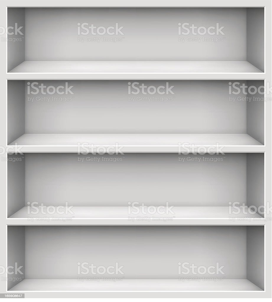 Shelves vector art illustration