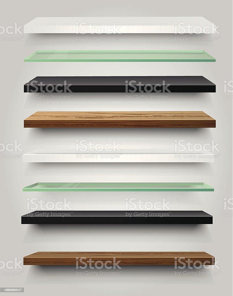 Shelves vector art illustration