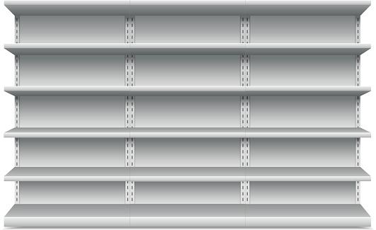Prateleiras - Arte vetorial de stock e mais imagens de Branco