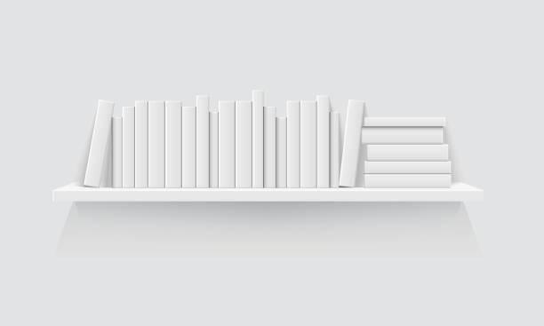 책 1 선반 - 책장 stock illustrations