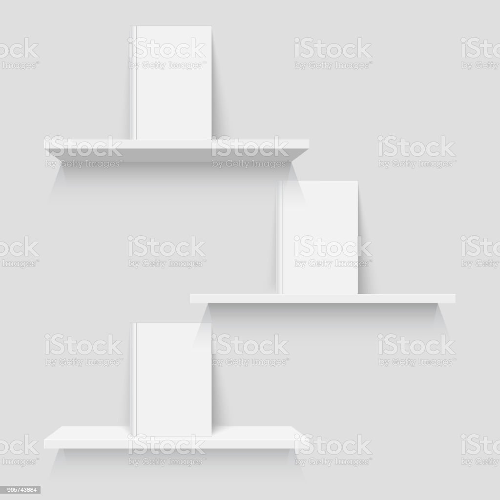 Shelves with books - Royalty-free Artificial stock vector