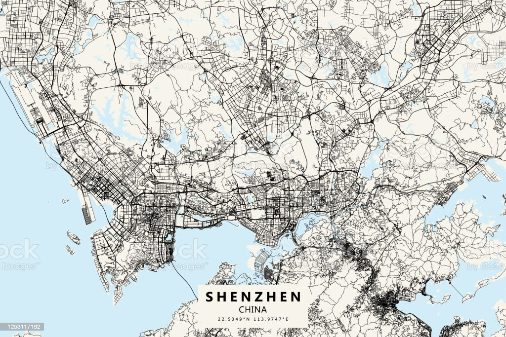 Shenzhen China Vector Map Stock Illustration Download Image Now Istock Silhouette map baltic sea europe vector. https www istockphoto com vector shenzhen china vector map gm1253117192 365866595