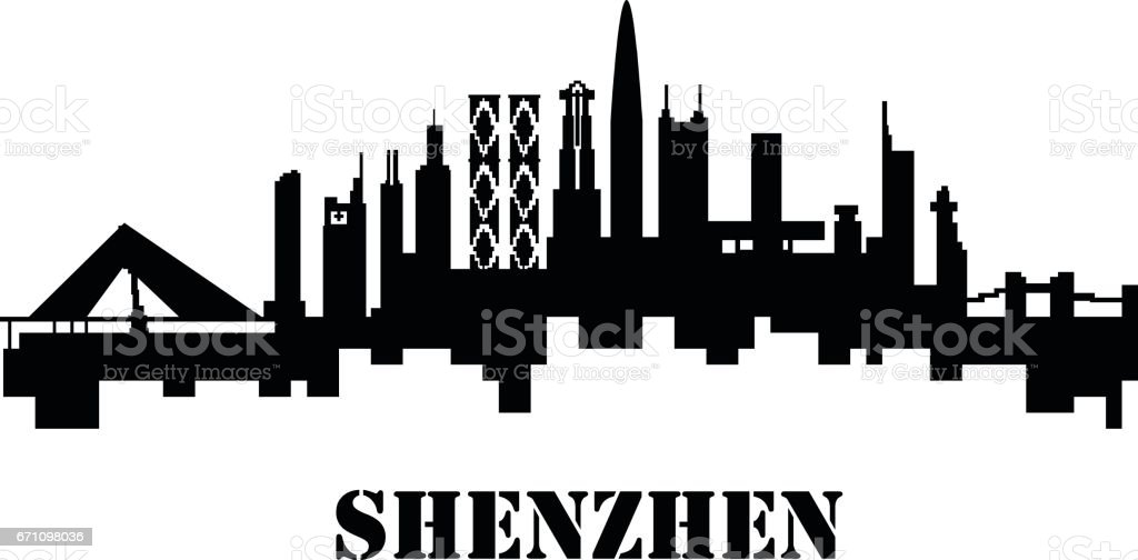 shenzhen vector art illustration
